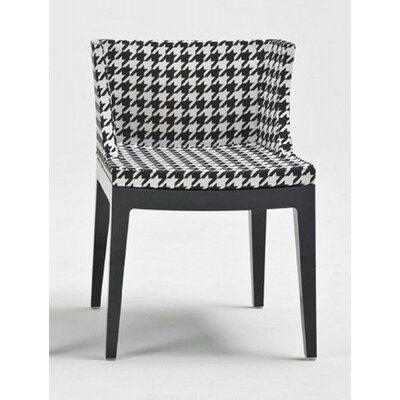 Mademoiselle Fabric Side Chair Color: Pied de Pole, Finish: Black