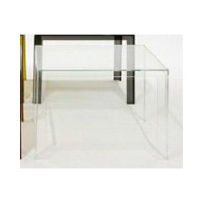 Invisible Coffee Table Table Size: 28.3 H, Color: Crystal