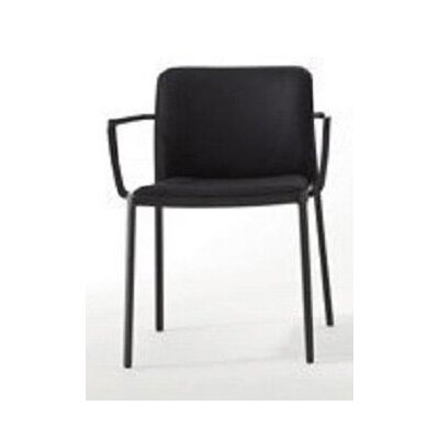 Audrey Soft Armchair (Set of 2) Color: Painted Black, Finish: Black Trevira