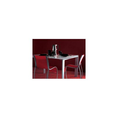 Classic Dining Table Size: Medium Rectangular, Finish: White Top/Aluminum Body