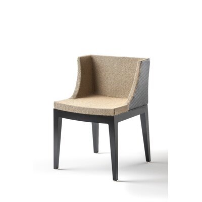 Mademoiselle Kravitz Armchair Seat Color: Raffia, Frame Color: Black
