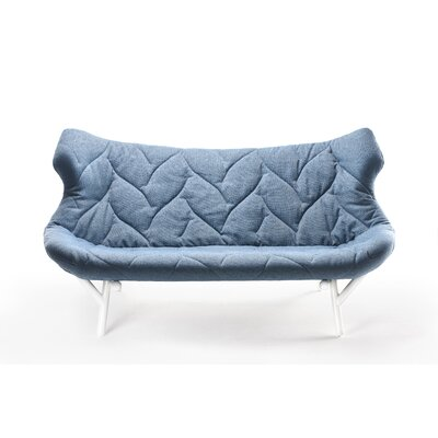 Foliage Loveseat Upholstery: Trivera Grey, Leg Color: Black