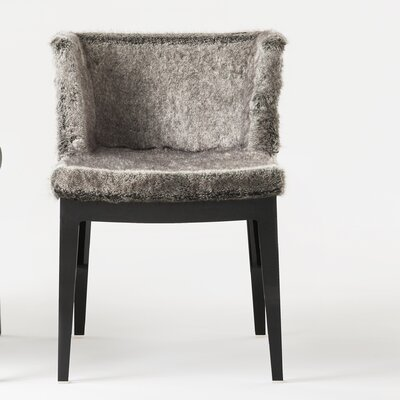 Mademoiselle Kravitz Armchair Finish: Transparent, Upholstery: Grey