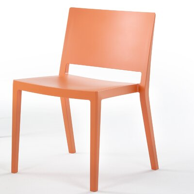 Lizz Mat Chair (Set of 2) Finish: Orange