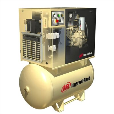 Ingersoll Rand 7.5 HP 150 PSI 25 CFM, 80 Gallon Rotary Screw Air Compressor with 'Total Air System'