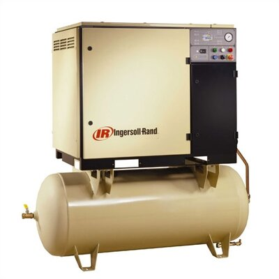 Ingersoll Rand 120 Gallon, 125 PSI, 125 CFM Rotary Screw Air Compressor with Integral Air Dryer - Voltage: 230