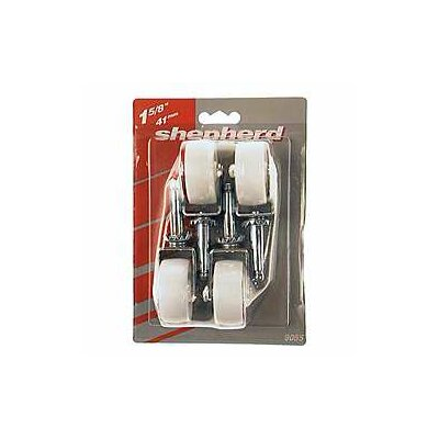 Light Duty Swivel Stem Caster Color: White, Size: 1-5/8