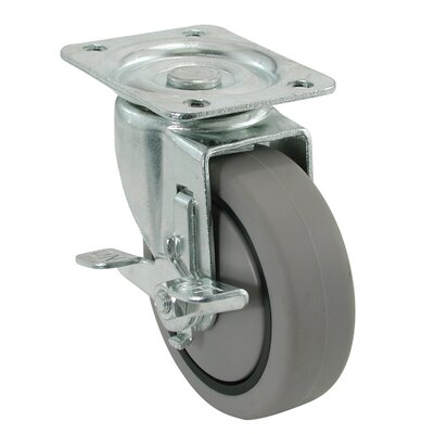 4 Swivel Plate Caster with Brake