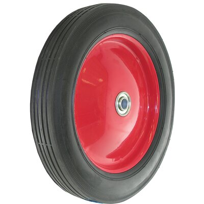 Metal Hub Semi Pneumatic Rubber Tire 9584