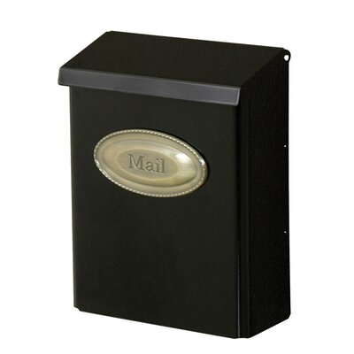 Locking Wall Mounted Mailbox Color: Black