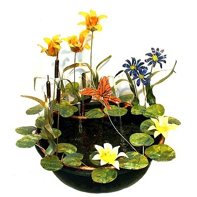 Tiger Lily Resin Fountain 21-13