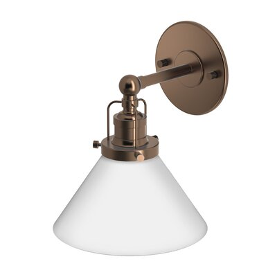 Cafe 1-Light Bath Sconce Finish: Bronze
