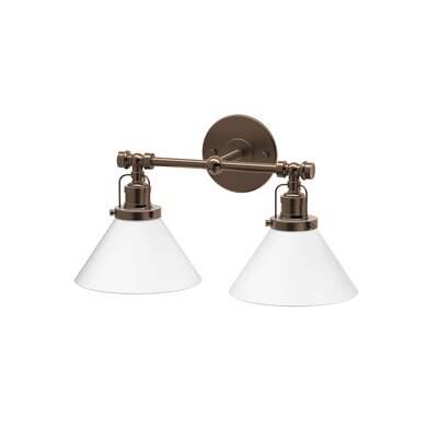 Cafe 2-Light Vanity Light Finish: Bronze