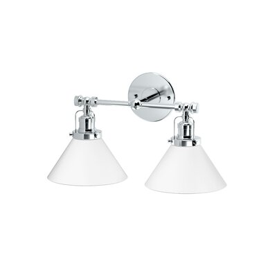 Cafe 2-Light Vanity Light Finish: Chrome