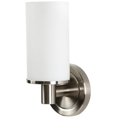 Latitude II Single 1-Light Armed Sconce Finish: Satin Nickel