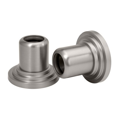 Marina Wall Flange Pair in Satin Nickel
