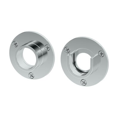 Wall Flange, Pair in Chrome Finish: Chrome