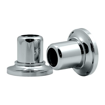 Tiara Wall Flange Pair in Chrome