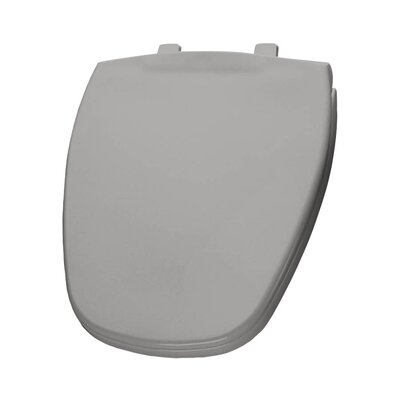 Plastic Round Toilet Seat Finish: Silver
