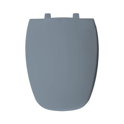 Plastic Elongated Toilet Seat Finish: Glacier Blue