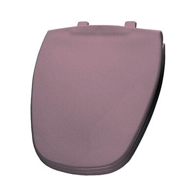 Plastic Round Toilet Seat Finish: Dusty Rose