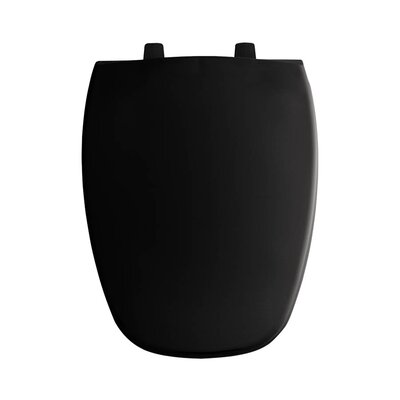 Plastic Elongated Toilet Seat Finish: Black