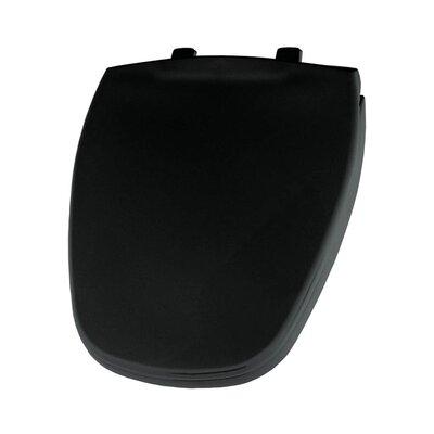 Plastic Round Toilet Seat Finish: Black