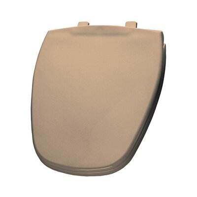 Plastic Round Toilet Seat Finish: Peach Bisque