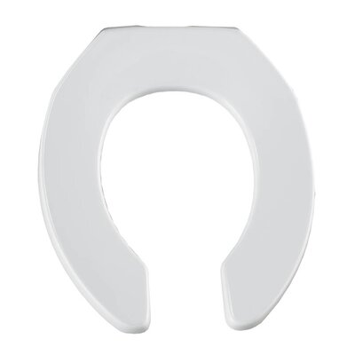Commercial Plastic Round Toilet Seat Finish: White