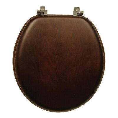 Natural Reflections Wood Round Toilet Seat Finish: Dark Walnut