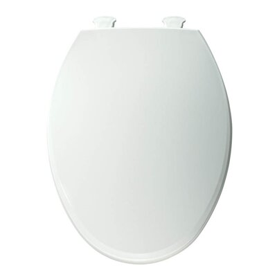 Lift-Off Plastic Elongated Toilet Seat Finish: White