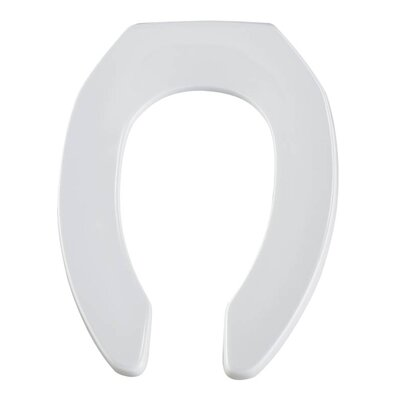 Commercial Plastic Elongated Toilet Seat Finish: White