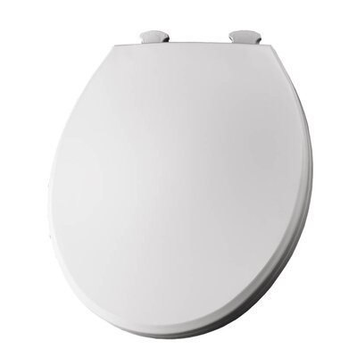 Lift-Off Plastic Round Toilet Seat Finish: Crane White