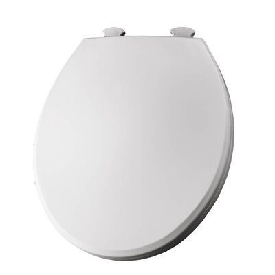 Lift-Off Plastic Round Toilet Seat Finish: White