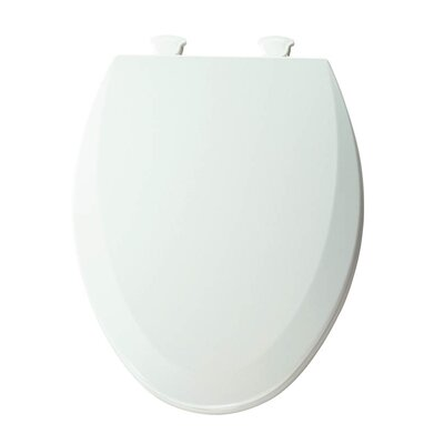 Lift-Off Wood Elongated Toilet Seat Finish: White