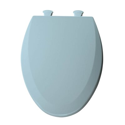 Lift-Off Wood Elongated Toilet Seat Finish: Dresden Blue
