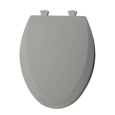 Lift-Off Wood Elongated Toilet Seat Finish: Ice Grey