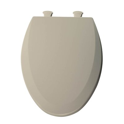 Lift-Off Wood Elongated Toilet Seat Finish: Almond