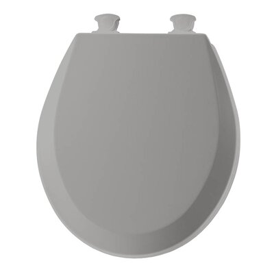 Lift-Off Wood Round Toilet Seat Finish: Silver