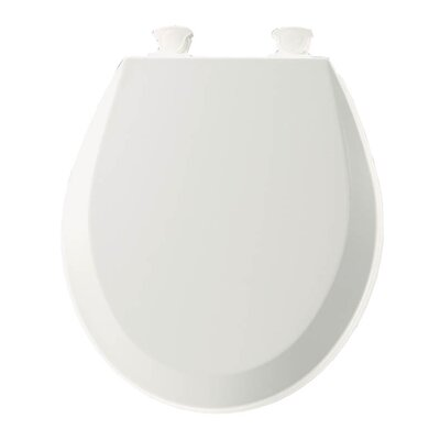 Lift-Off Wood Round Toilet Seat Finish: White