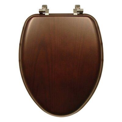 Natural Reflections Wood Elongated Toilet Seat Finish: Dark Walnut