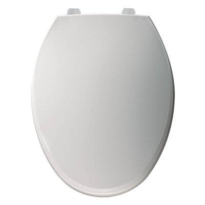 Just Lift Plastic Elongated Toilet Seat