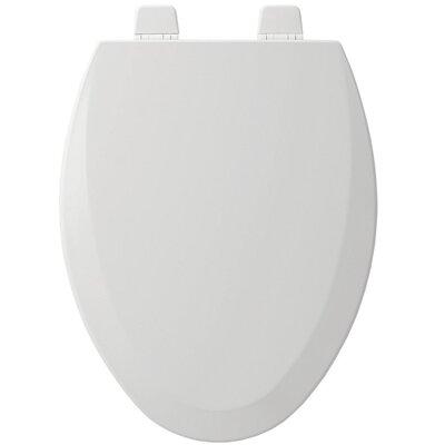 Wood Elongated Toilet Seat Finish: White