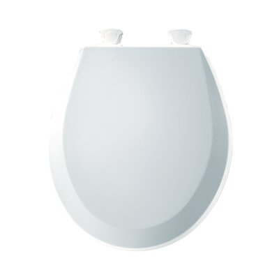Molded Wood Round Toilet Seat Finish: White