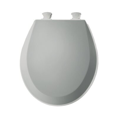 Molded Wood Round Toilet Seat Finish: Ice Gray