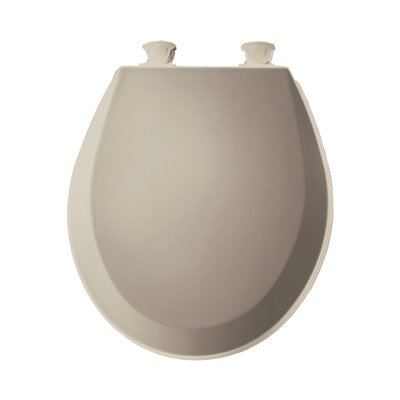 Molded Wood Round Toilet Seat Finish: Fawn Beige
