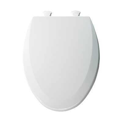 Molded Wood Elongated Toilet Seat Finish: Cotton White
