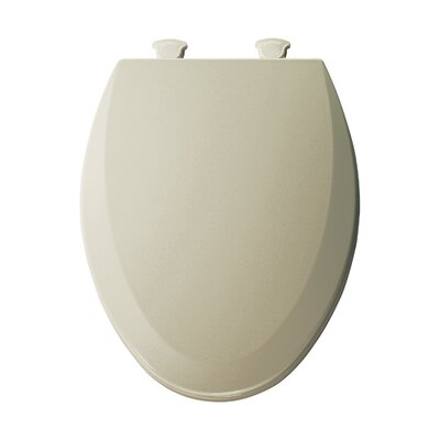 Molded Wood Elongated Toilet Seat Finish: Bone