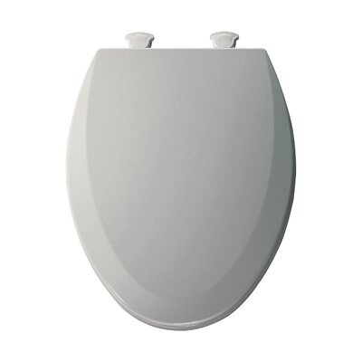 Molded Wood Elongated Toilet Seat Finish: Ice Gray