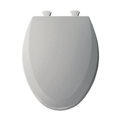 Molded Wood Elongated Toilet Seat Finish: Ice Gray